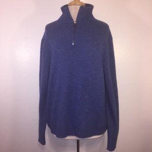 J. Crew men's 3/4 zip Pullover sweater